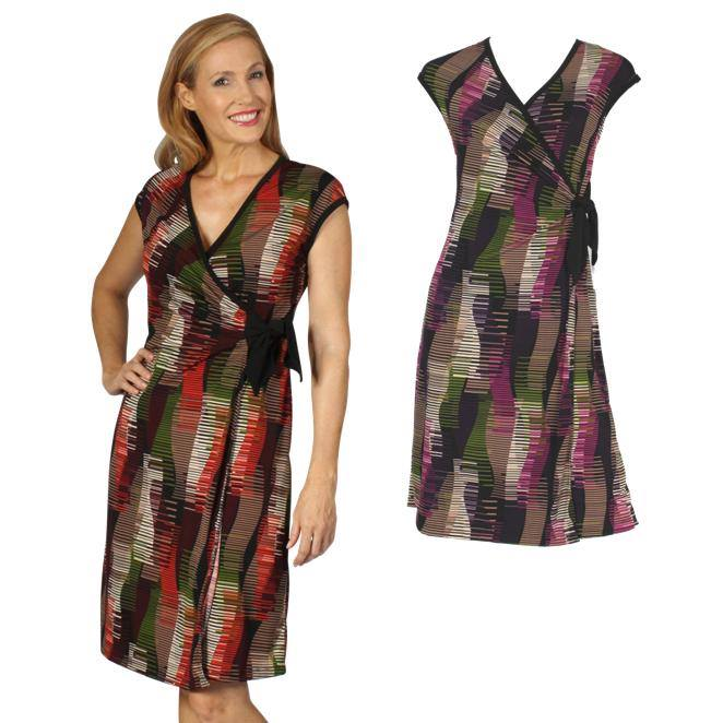 Geo wrap dress from Verily