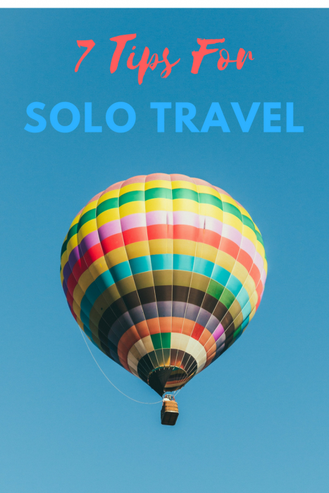 7 Tips for Solo Travel in your 50's