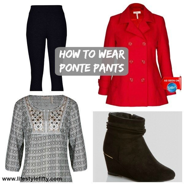 d6f7763d7a4e7e How to wear Ponte Pants and look a Million Dollars - Lifestyle Fifty