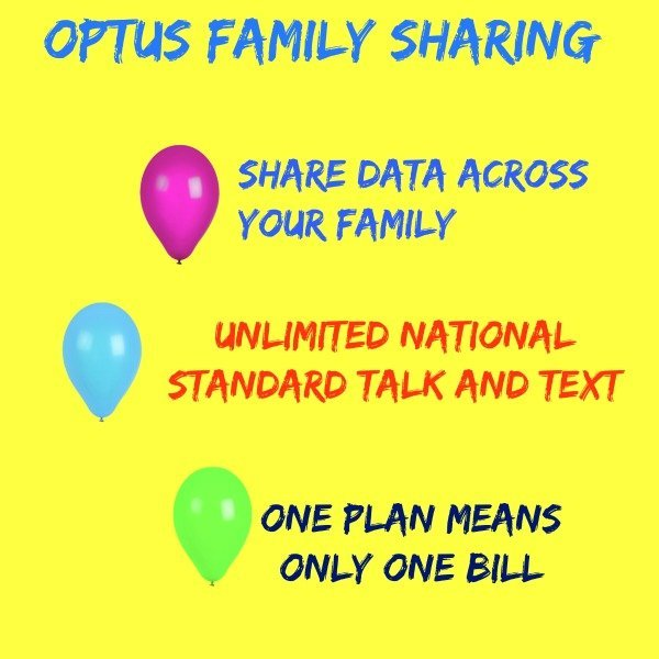 optus family sharing benefits
