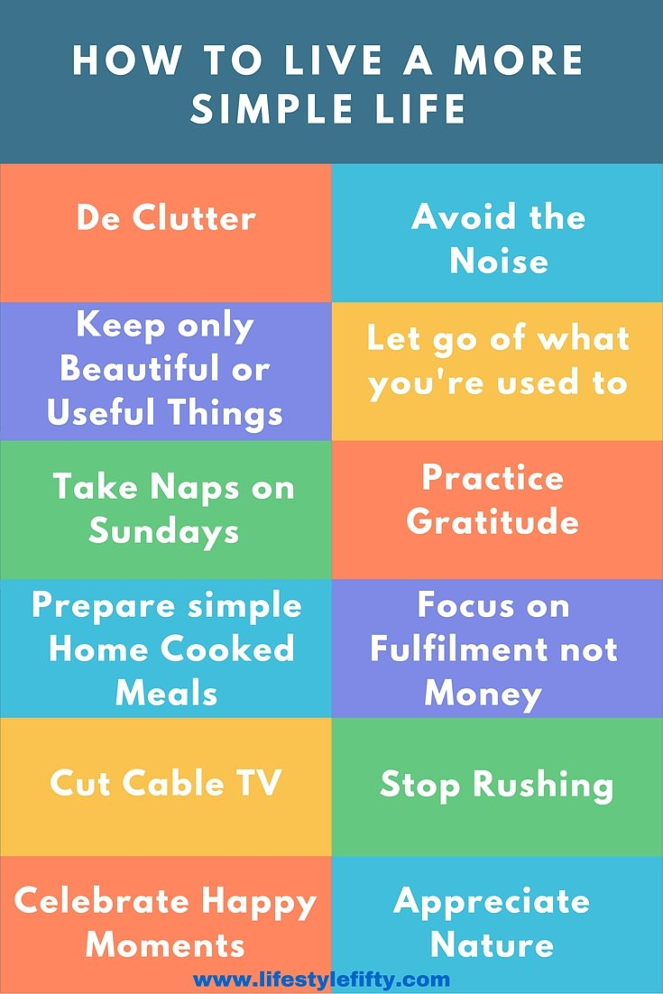how to live a more simple life