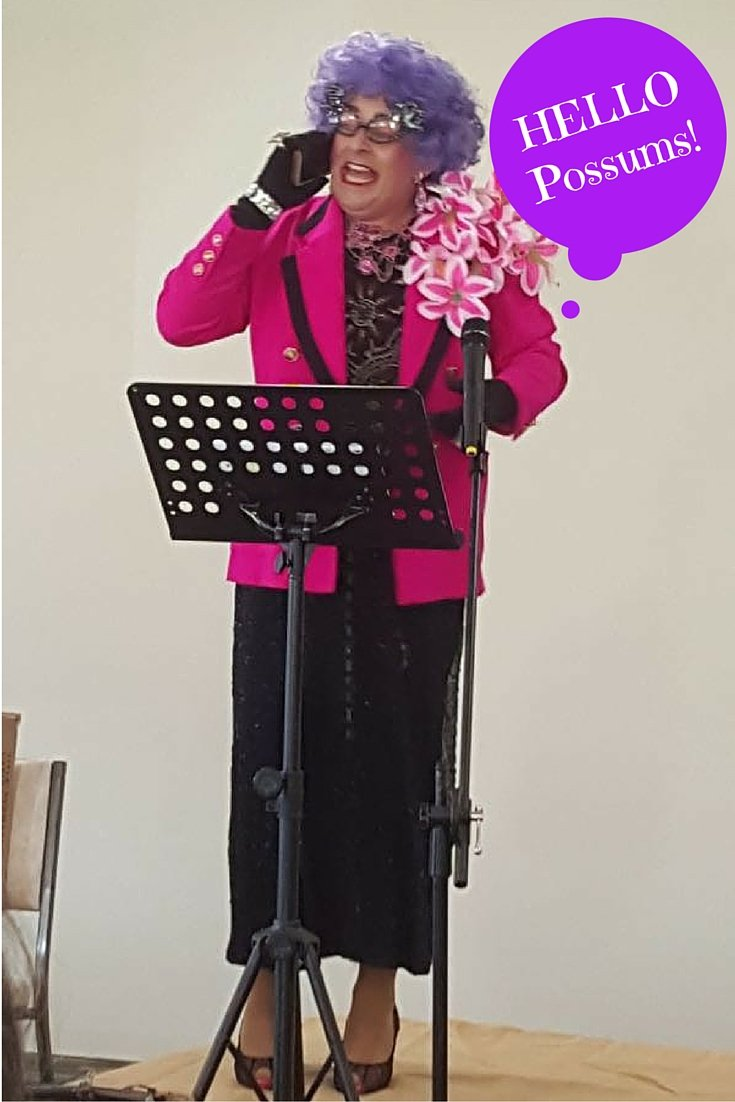 My little corner of the world, Dame Edna (lookalike) comes to York