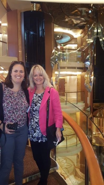 Princess Cruises, Atrium and Staircase