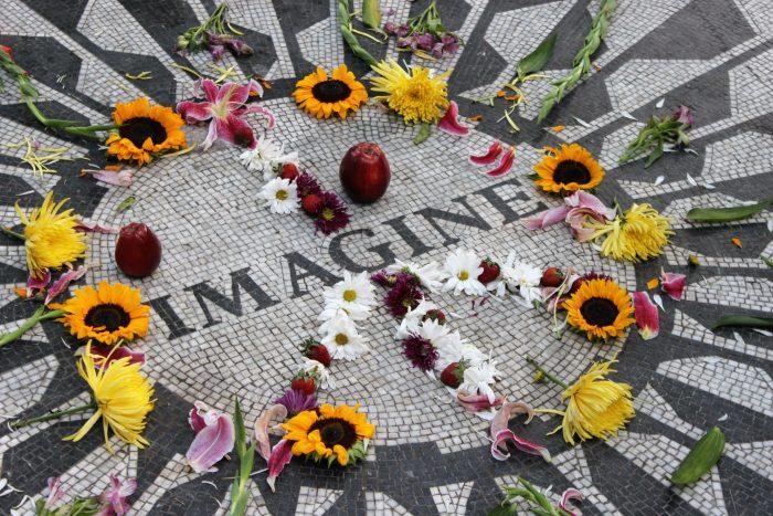 Pic of John Lennon's Imagine memorial, from blog post, what age is elderly