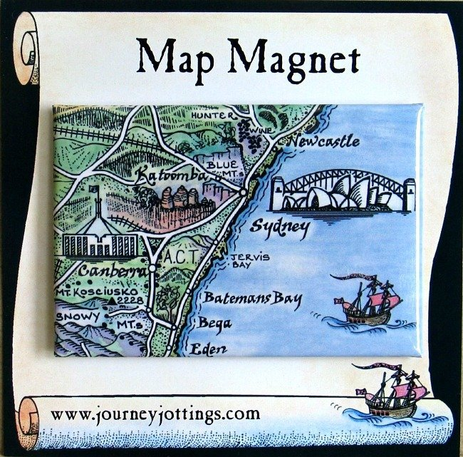 what to give the woman who has everything, map-magnet-sydney