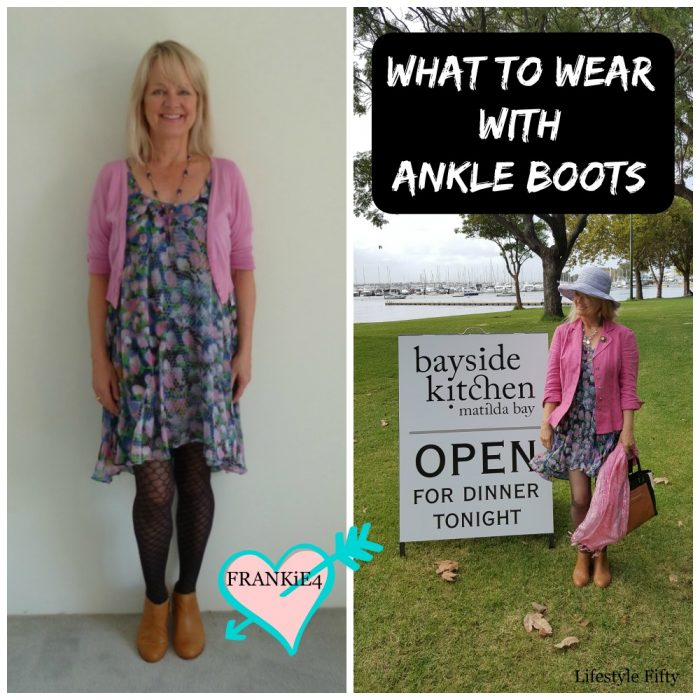 What to wear with Tan Ankle Boots this Season – Floaty Dress