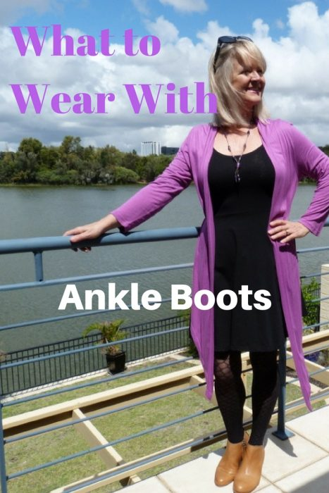 What to wear with ankle boots - the little black dress