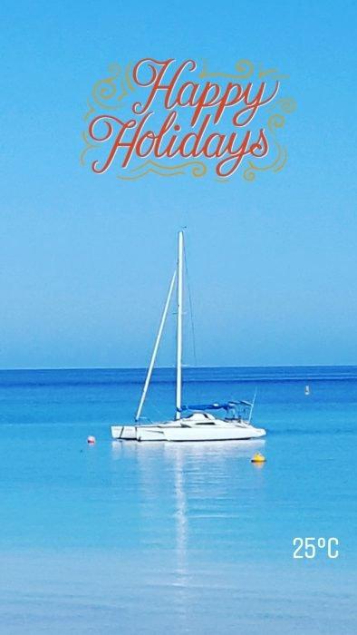Boat scene Western Australia. Blue ocean. Best swimsuit for older women post