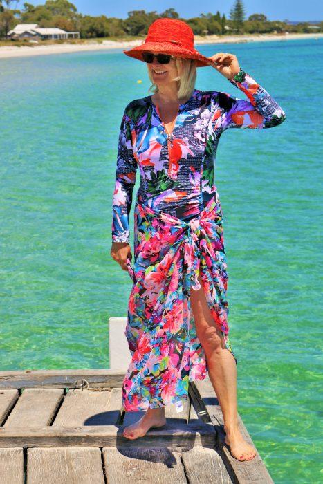 best swimwear for older women - women in swimwear