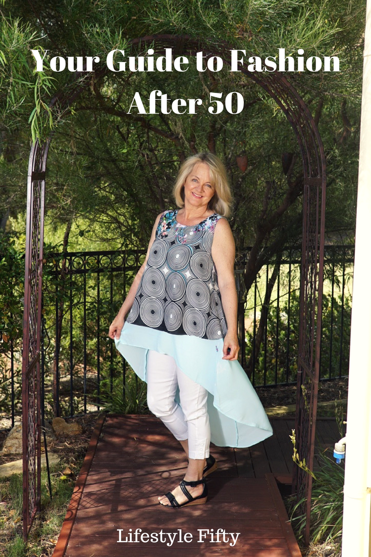 Fifty plus women's fashion. Want to look fashionable after the age of 50? Know your body shape and follow a few simple style rules. Understanding over 50s fashion is knowing what not to wear when you're over 50. This ultimate style guide includes advice on clothes for women over 50, fashion for the older woman/