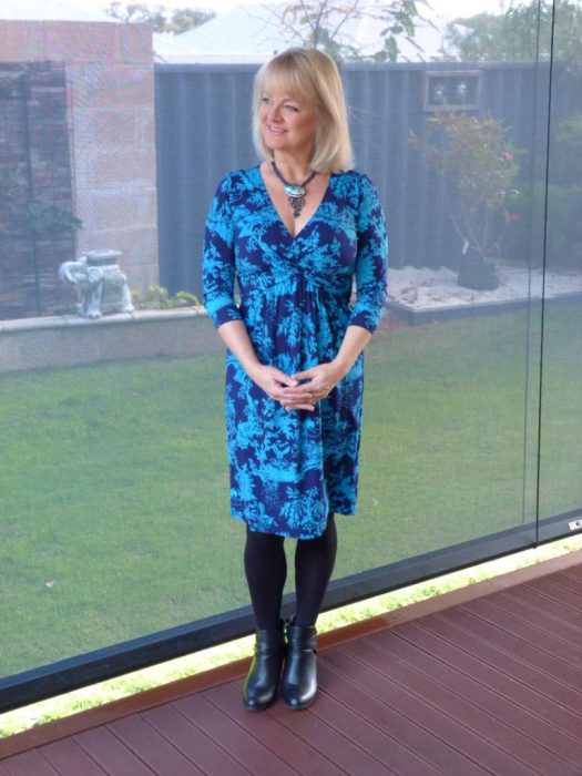 Fifty Plus Women's Dresses - Fashion - woman in blue dress