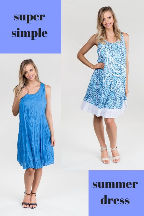 simple summer dress suitable for a cruise - travelling - no iron - great for packing