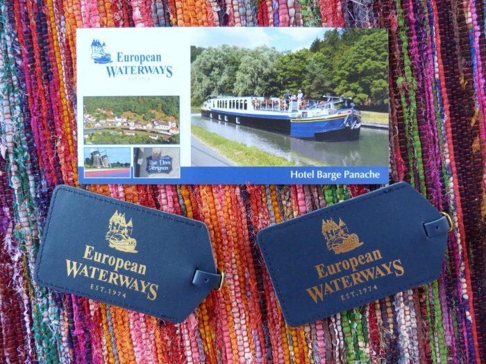 Barge cruising in France, Panache, European Waterways welcome wallet.