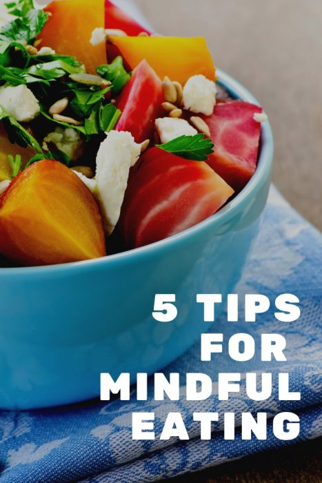 5 Tips for Mindful Eating. What is the non diet approach and why is it a healthier way of living. Stop Dieting Start Living.