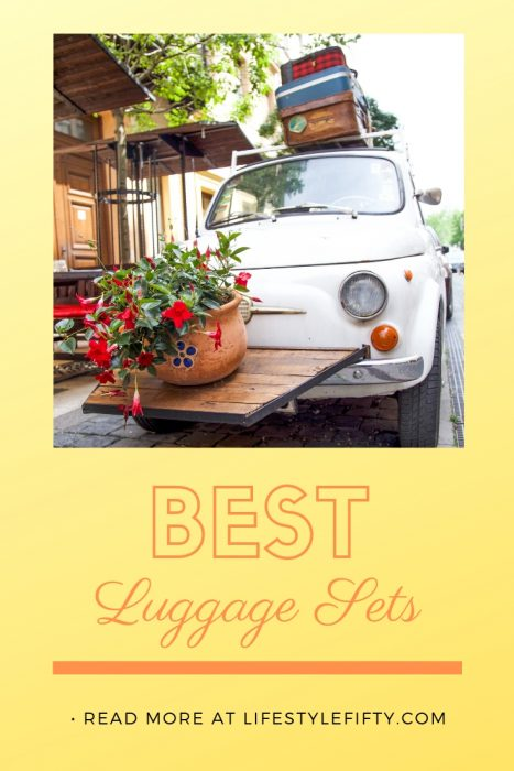 Best Luggage Sets. Read our reviews for best suitcases and luggage sets for travel. Pic of suitcases on top of car.