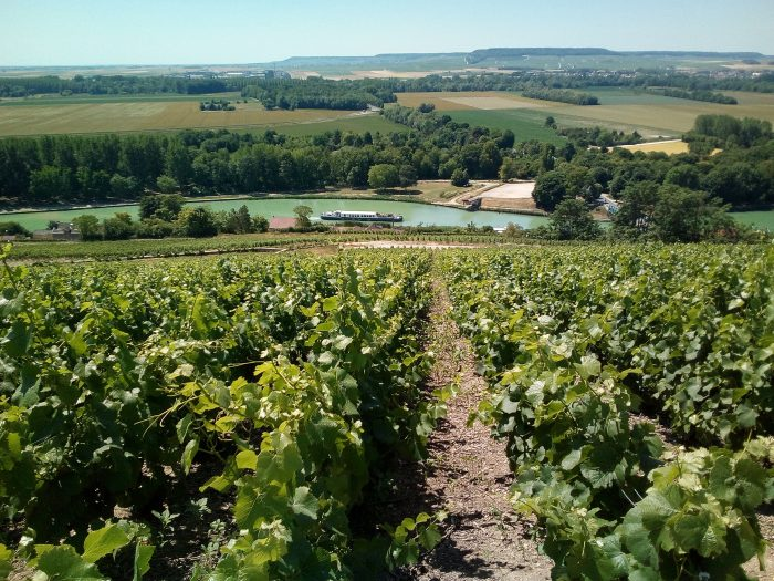 View of French countryside. Barge cruises in France with European Waterways