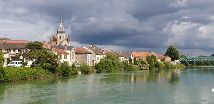 Scenery Champagne Region France from a luxury hotel barge