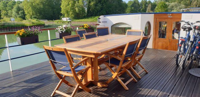 Deck, Le Panache, Hotel Barge