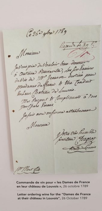 History revealed at Moet et Chandon. Old handwritten letter.