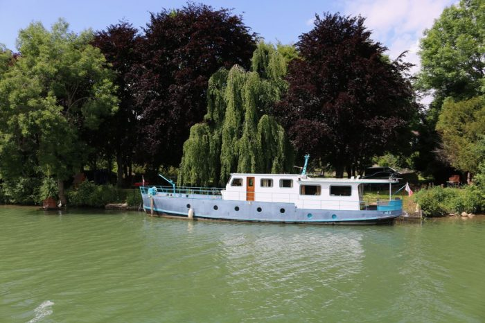 Scenery in Champagne region France aboard Le Panache, European Waterways. Luxury barge trip in France.