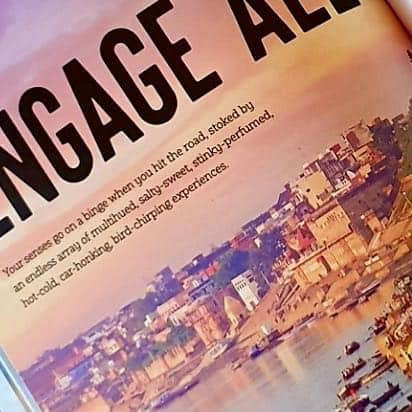 Pic of part of page of Travel Goals book, Lonely Planet