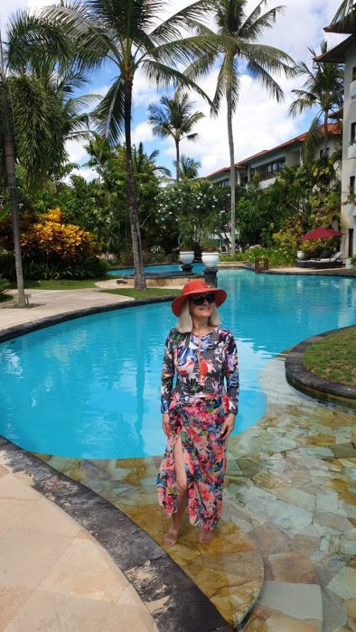 What to Pack for Bali - Photo of La Laguna Resort and girl in swimsuit