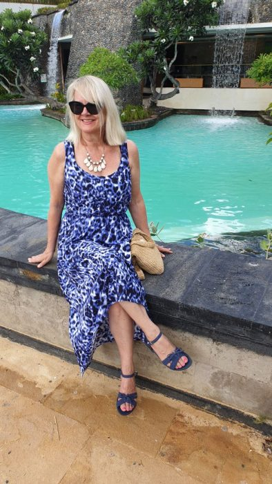 Woman in maxi dress - Bali - what to pack