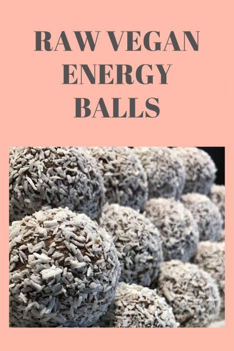 raw vegan energy balls, cacao bliss balls
