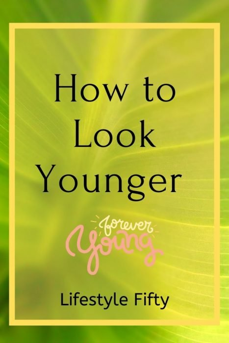 Look Younger text overlay