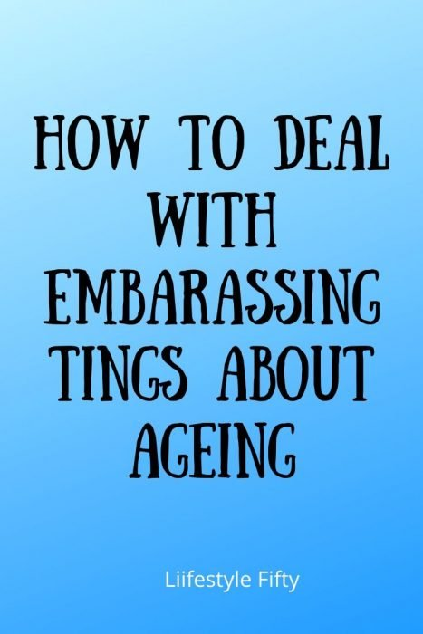 Text overlay - 8 Embarassing Things About Ageing