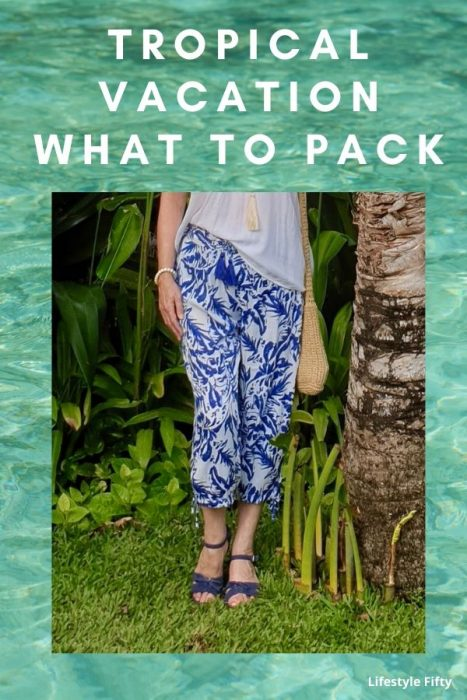 Tropical scene - what to pack