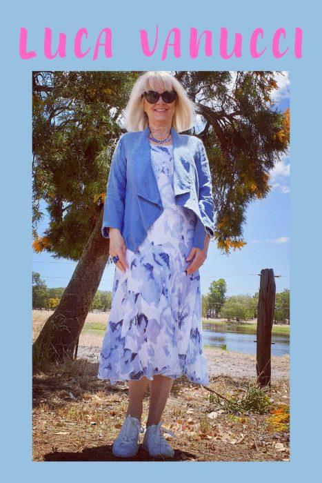 Italian linen dress and jacket