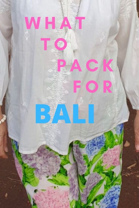 What to pack for Bali. Clothes suitable for tropical holiday.