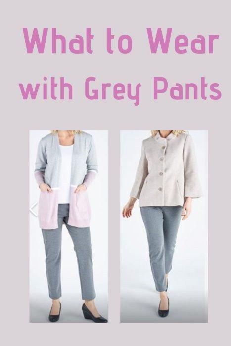 Woman in grey pants
