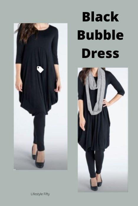 Bubble Dress in black