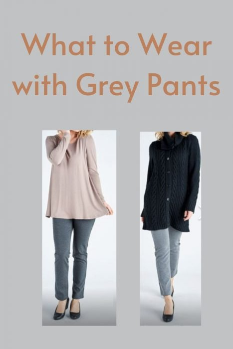 Different tops to wear with grey pants