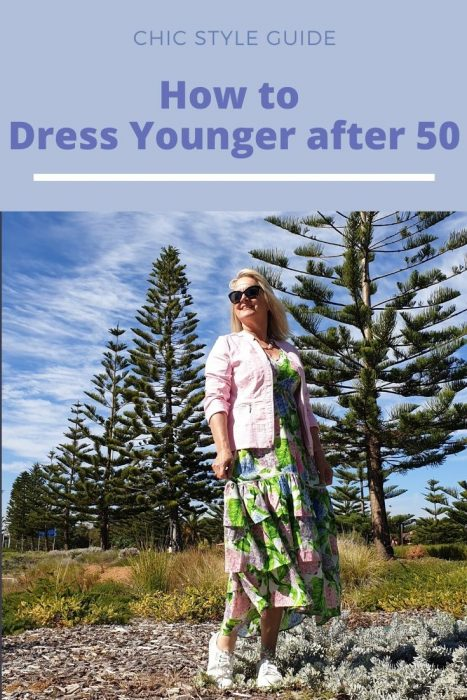 Mature woman in dress - how to dress younger after 50