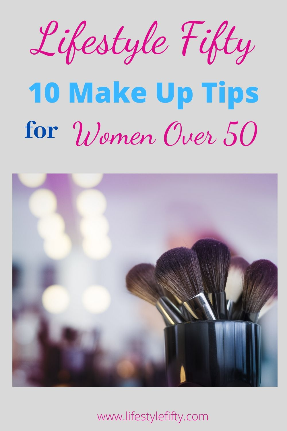 10 Make up tips, text overlay