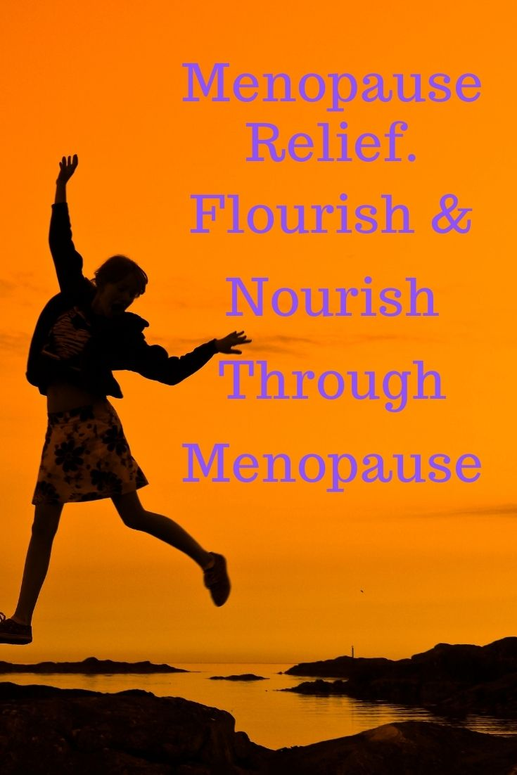 Flourish and nourish menopause relief course graphic