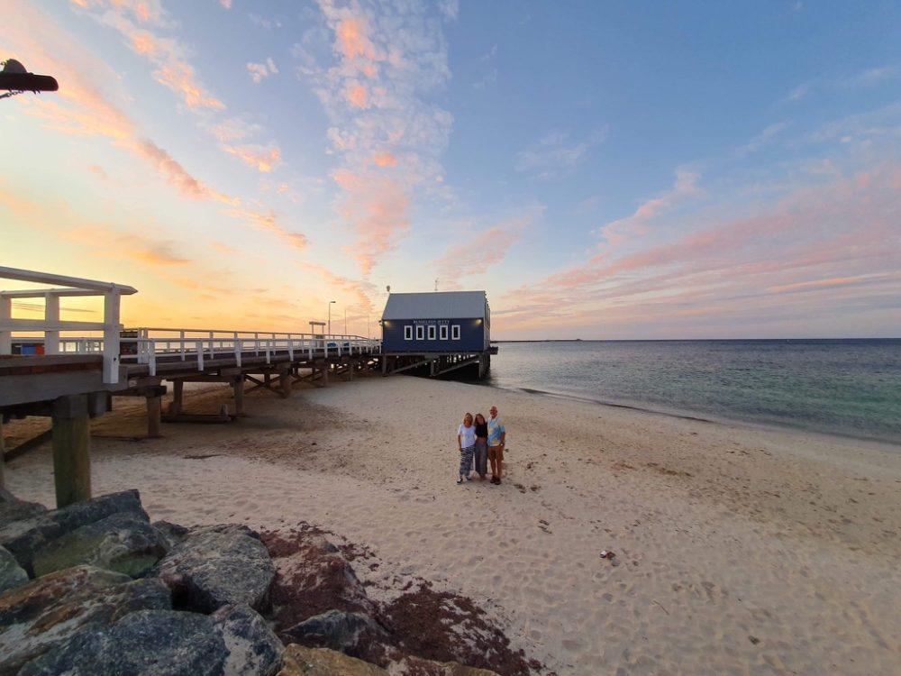 Sunset over ocean, from blog post Essentials for Summer Beach Days.