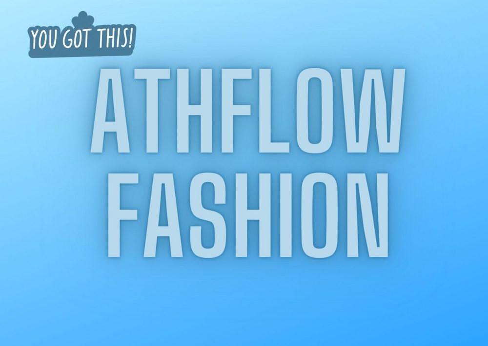 Athflow fashion, text overlay