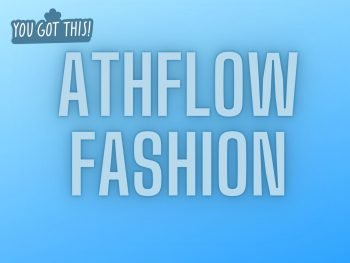 Athflow fashion, text overlay