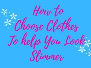 look-slimmer-in-clothes, text overlay blue backgroud