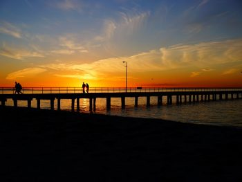 Image: sunset on pier, Post: cheer yourself up